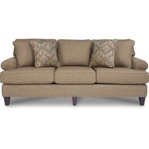 Transitional Sofa with Premier ComfortCore Cushions
