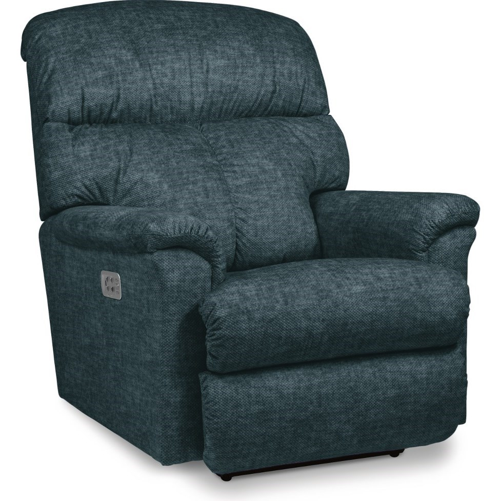 Reed Power Rocking Recliner w/ Headrest & Lumbar by La-Z-Boy at Jordan's Home Furnishings