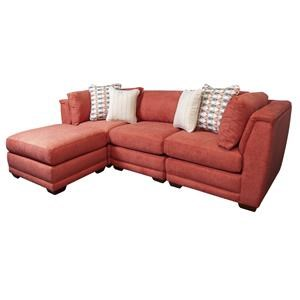 Sectional Sofa with Chaise and Accent Pillows
