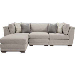 4 Piece Sectional with Ottoman Chaise