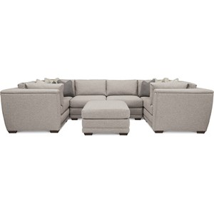7 Piece U-Shaped Sectional with Ottoman