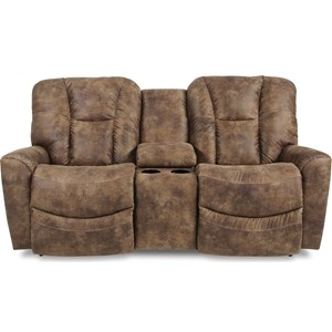 Power Full Reclining Loveseat w/ Console