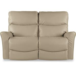 Contemporary Power-Recline-XRw™ Full Reclining Loveseat with Wall Saver Mechansim