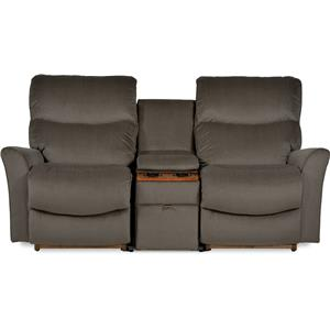 Three Piece Contemporary Power Reclining Loveseat with Storage and Cupholder Console