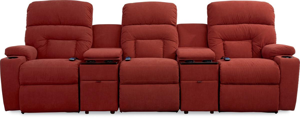 Spectator 5 Pc Reclining Home Theater Group by La-Z-Boy at Thornton Furniture