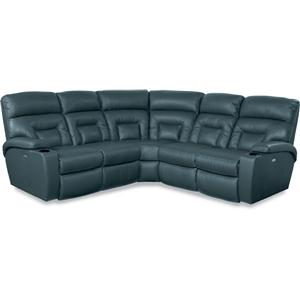 5 Piece Power Reclining Sectional Sofa with Lighting Cupholders