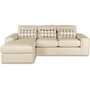 Two Piece Modern Sectional Sofa with Architectural Lines and LAF Chaise