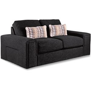 Modern Apartment-Size Sofa with Architectural Lines and Premier ComfortCore Cushions