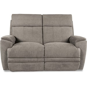 Casual Power Reclining Loveseat with USB Charging Ports and Power Headrest /  Lumbar