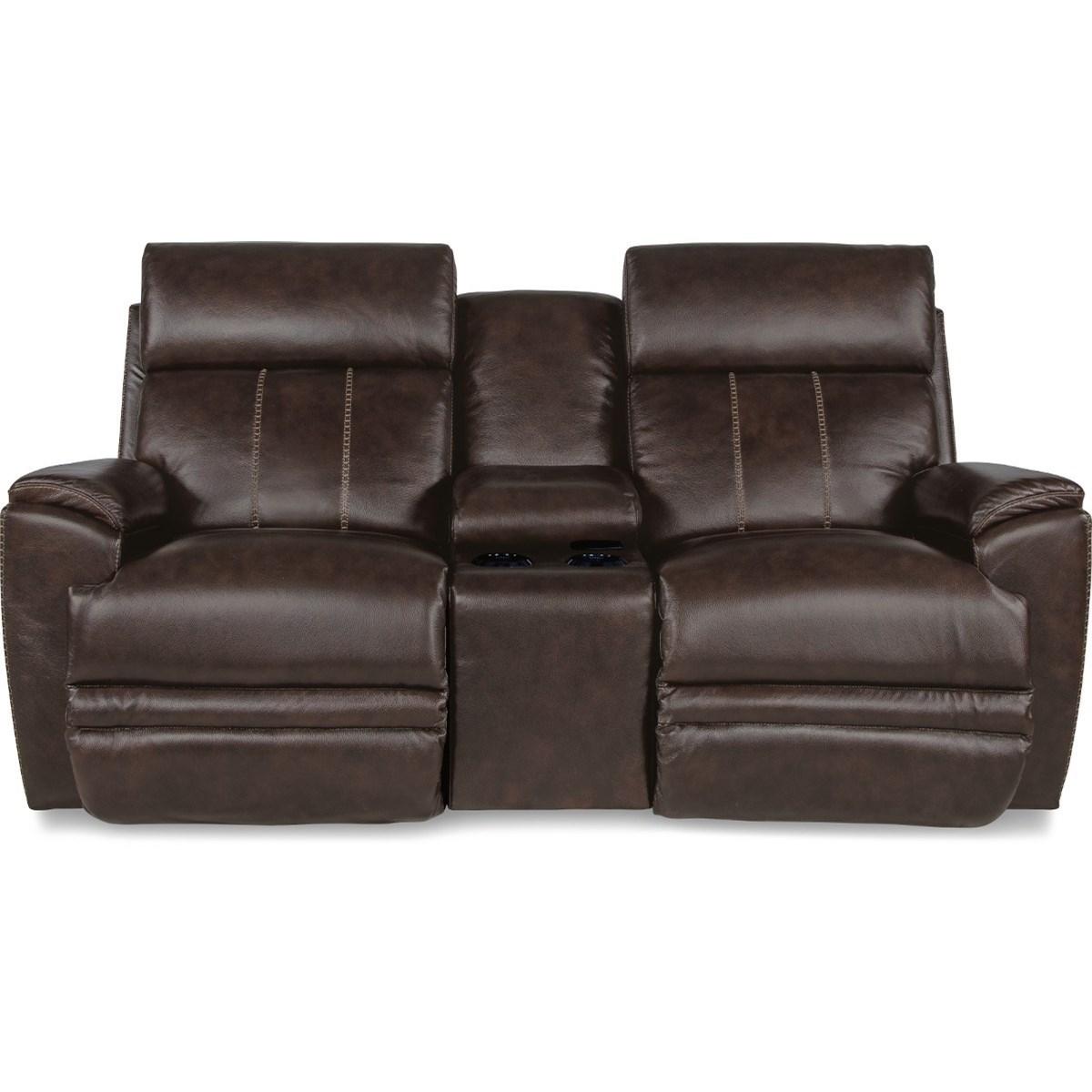 Talladega Pwr Recline Loveseat w/ Console and Headrest by La-Z-Boy at Walker's Furniture
