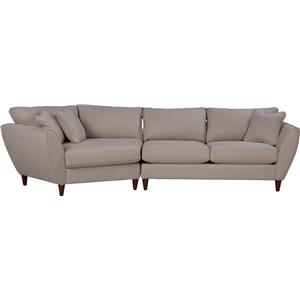 Contemporary Two Piece Sectional Sofa with RAS Cuddler