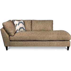 Contemporary Left Arm Sitting Chaise Lounge with Toss Pillow