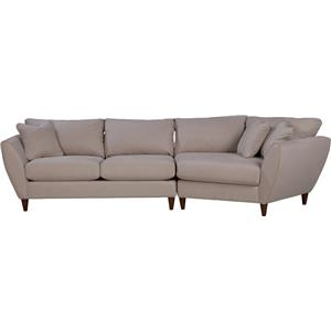 Contemporary Two Piece Sectional Sofa with LAS Cuddler