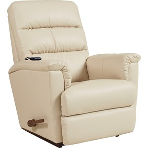 Casual Rocker Recliner with 2-Motor Massage & Heat