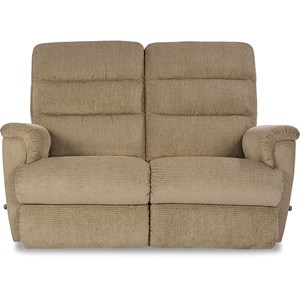 Casual Reclining Wall Saver Loveseat
