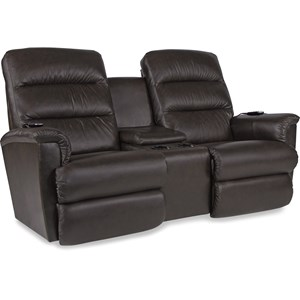 Power-Recline-XRw+ Wall Saver Reclining Console Loveseat with Power Tilt Headrest and Lumbar