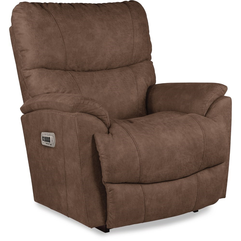 Trouper Power Rocking Recliner w/ Headrest & Lumbar by La-Z-Boy at Home Furnishings Direct