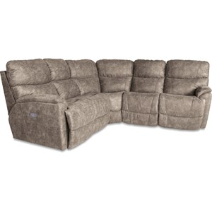 Three Piece Reclining Corner Sectional Sofa