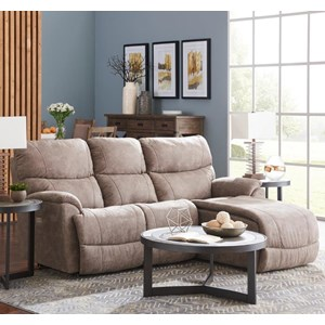 Two Piece Power Reclining Sectional Sofa with Left-Sitting Tilt Back Chaise and One USB Port