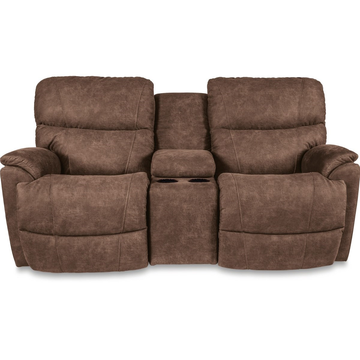 Trouper Power Reclining Loveseat w/ Console by La-Z-Boy at Bennett's Furniture and Mattresses