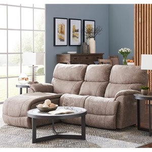 Two Piece Reclining Sectional Sofa with Right-Sitting Tilt Back Chaise
