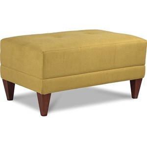 Mid-Century Modern Ottoman with Tufting