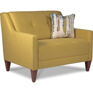 Mid-Century Modern Chair-and-a-Half with Tufting