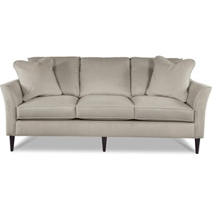 Contemporary Sofa with Flared Arms and ComfortCore Cushions