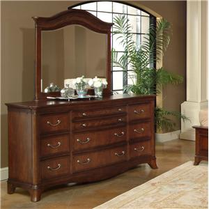 Lacquer Craft USA Avalon Dresser and Mirror Combo