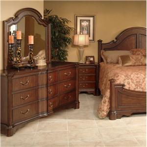 Lacquer Craft USA Cortona Dresser and Mirror Combo
