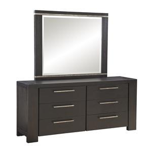 Lacquer Craft USA Metropolitan 8300 Dresser + Mirror