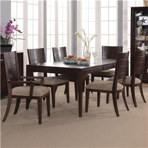 Lacquer Craft USA Pacifica 7 Piece Table & Chair Set