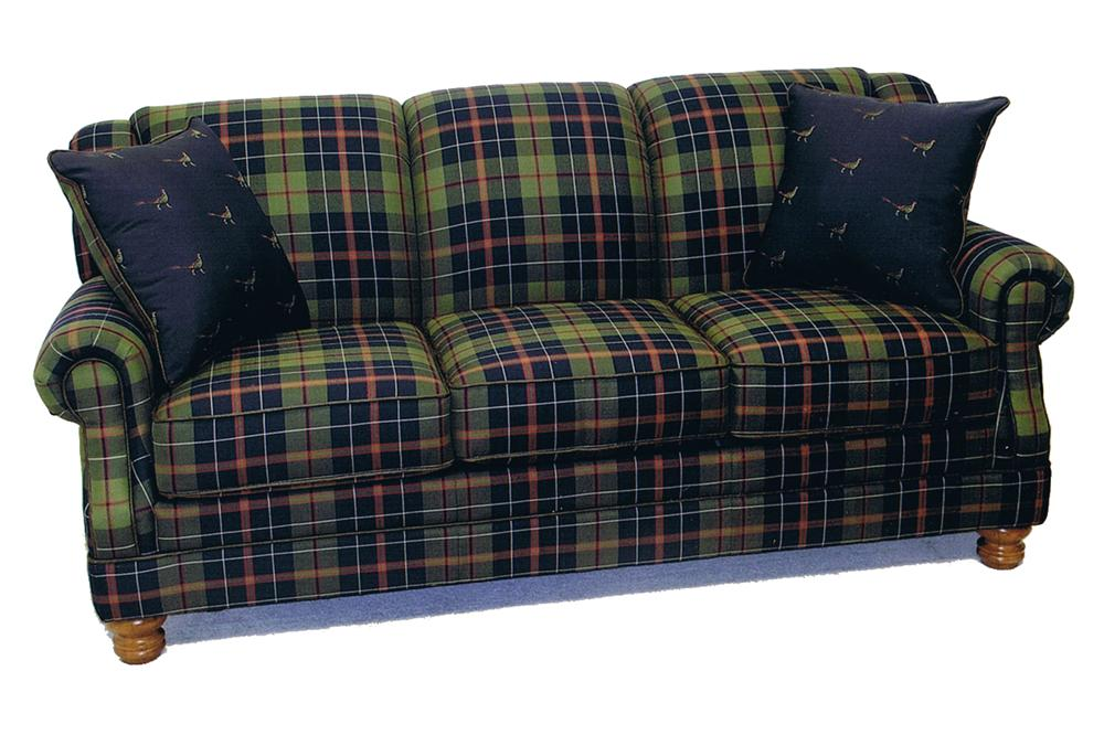 838 Tight Back Sofa by LaCrosse at Mueller Furniture