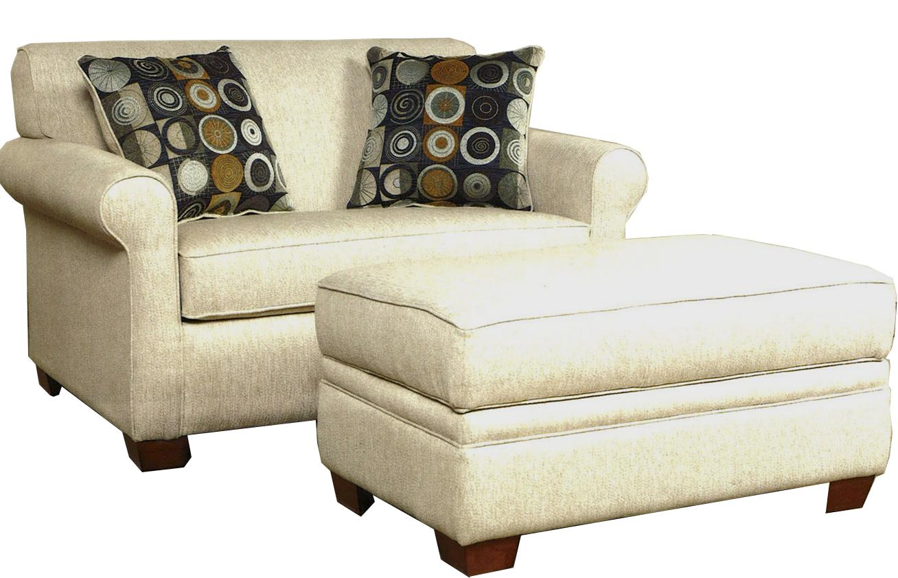 999 Chair & Ottoman by LaCrosse at Mueller Furniture