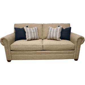 Queen Sofa Sleeper with Rolled Arms