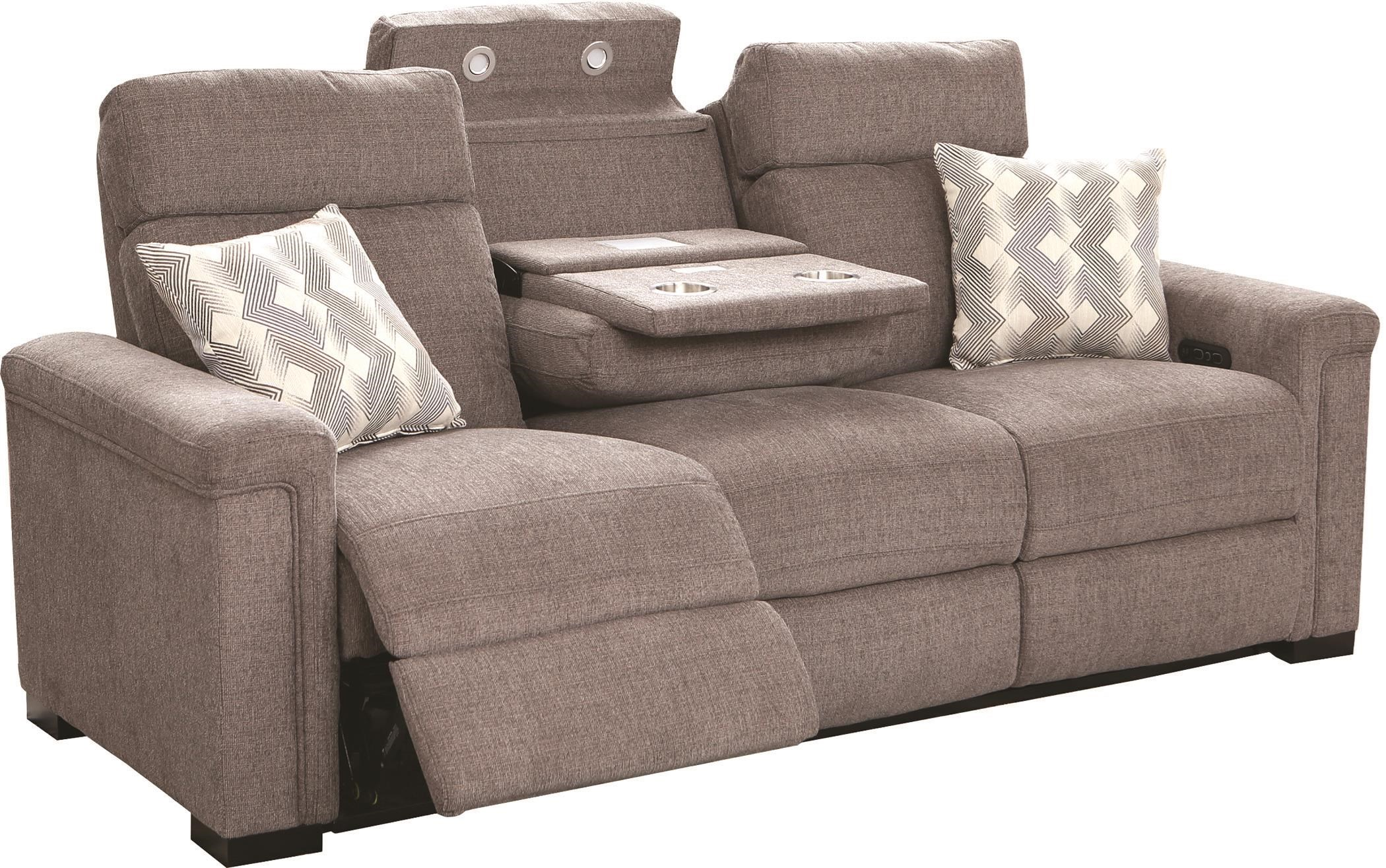L470 Power Reclining Sofa W/Power Headrests and U by Lambor Furnishings at Darvin Furniture