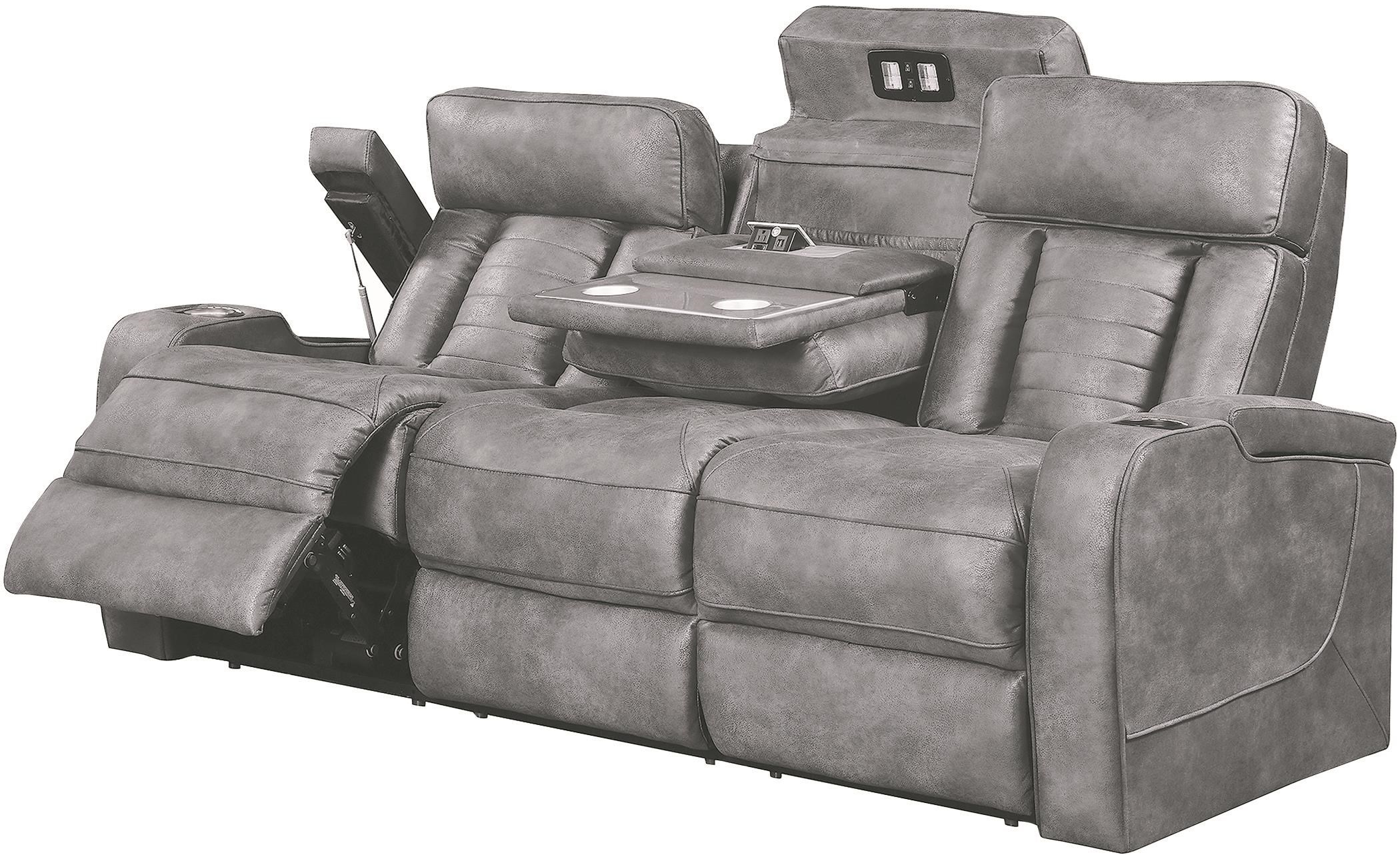 Napa Power Reclining Sofa by Lambor Furnishings at Darvin Furniture