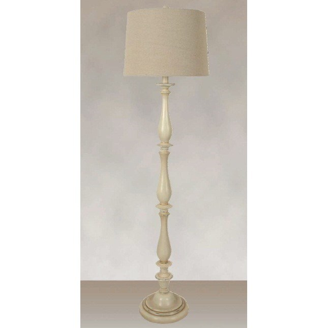 Lamps Polyresin Floor Lamp White Washed Finish by Lamps Per Se at Furniture Fair - North Carolina
