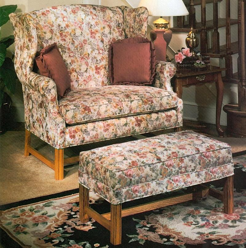 1336 Chair & 1/2 and Ottoman by Lancer at H.L. Stephens