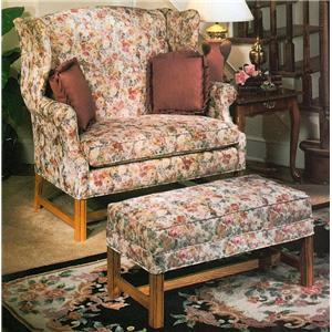 Lancer 1336 Chair & 1/2 and Ottoman