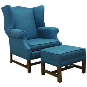Lancer 1414 High Back Chair and Ottoman
