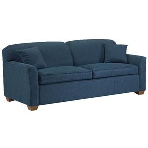 Stationary Short Sofa with Block Feet