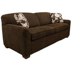 Queen Sleeper Sofa with Block Feet