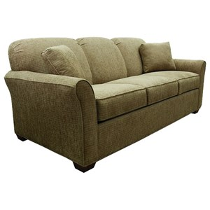Queen Sofa Sleeper with Rounded Flared Arms