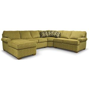 Transitional 4-Piece Sectional