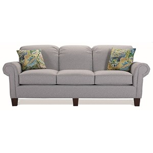 Contemporary Sofa with Rolled Arms