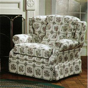 Country Style Upholstered Armchair