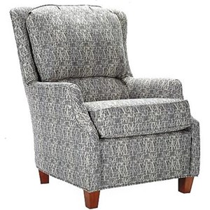 Casual Accent Chair with Narrow Tapered Arms