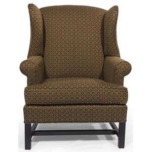 Wing Back Chair with Rolled Arm