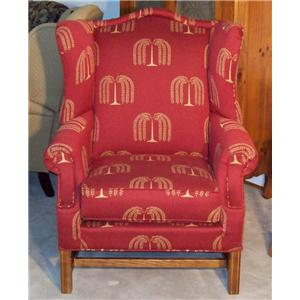 High Wing Back Chair with Rolled Arms
